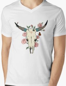 Desert Skull Mens V-Neck T-Shirt