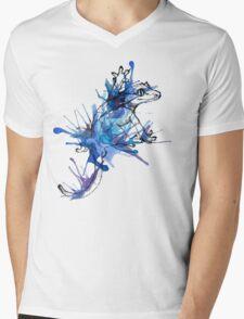 Taru-Blueberry Splash Mens V-Neck T-Shirt