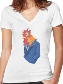 Corporate Cock Women's Fitted V-Neck T-Shirt