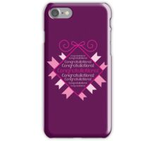 Congratulations in bunting square iPhone Case/Skin