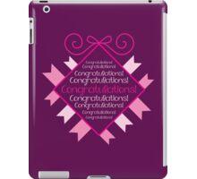 Congratulations in bunting square iPad Case/Skin