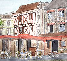 Watercolour.Bergerac France. by Irene  Burdell