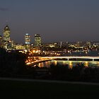 Perth nightscape, view from Kings Park by DashTravels