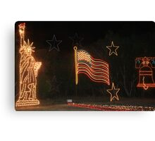 A patriotic show. Canvas Print