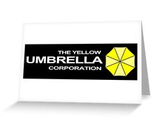 The Yellow Umbrella Corporation Greeting Card