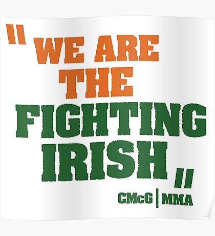 Conor McGregor - Quotes [Fighting Irish] Poster