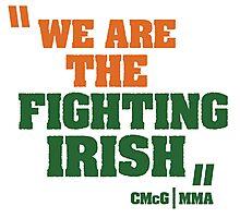 Conor McGregor - Quotes [Fighting Irish] Photographic Print