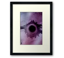 lilac eclipse Framed Print