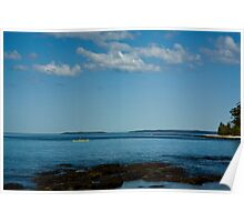 Canoeing at Huskissons Poster