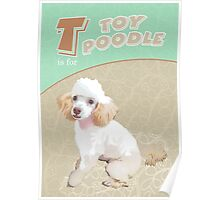 T is for Toy Poodle Poster