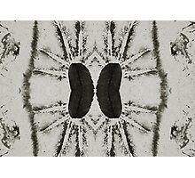 black ink, collage Photographic Print