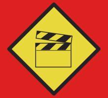 WARNING Film movie board Kids Tee