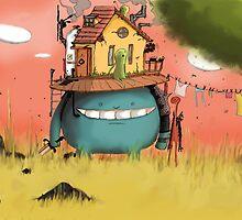 House on the head by Weird