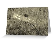 Don't Litter Greeting Card