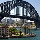 sydney harbour bridge and harbour by martinberry