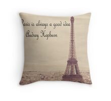 Paris theme Throw Pillow