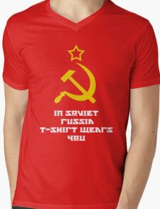 In Soviet Russia T-shirt wears you Mens V-Neck T-Shirt