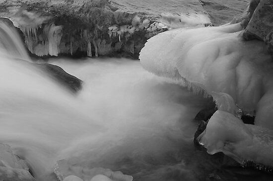 Icicles and Silky Water Flow by Mukesh Srivastava