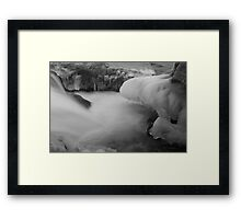 Icicles and Silky Water Flow Framed Print