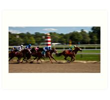 Top of the Stretch - Saratoga Springs, NY Art Print