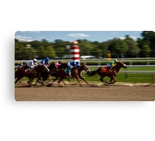 Top of the Stretch - Saratoga Springs, NY Canvas Print