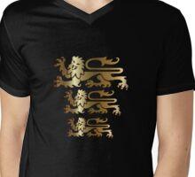 Three Lions Mens V-Neck T-Shirt