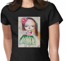 Hula Girl Womens Fitted T-Shirt
