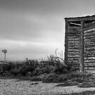 A Shed, Rain & The Desert Plains by Stephen Ruane