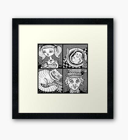 Wonderland Miniatures (Panel 1) Framed Print