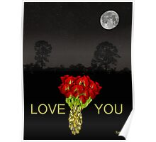 ROSES LOVE  YOU Poster