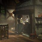 Aina at the stove by Roberta Angiolani