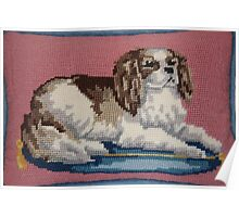 Cavalier King Charles Spaniel in Needlepoint Poster