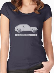 Rally Legends - Talbot Sunbeam Lotus Women's Fitted Scoop T-Shirt
