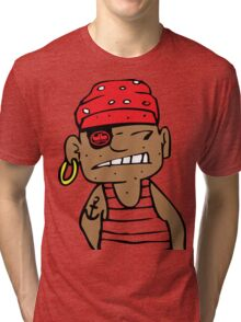uk pirate tshirt by rogers bros Tri-blend T-Shirt