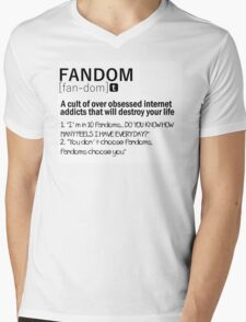 Fandom Mens V-Neck T-Shirt