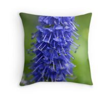 Blue Stalk Throw Pillow