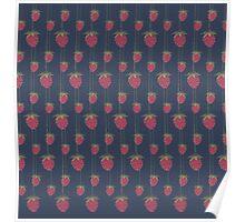 Sweet Hanging Strawberries Poster