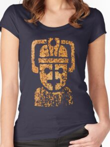 Rusting Cyberman Logo Women's Fitted Scoop T-Shirt