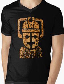 Rusting Cyberman Logo Mens V-Neck T-Shirt