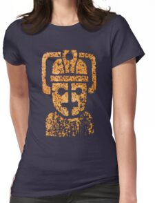 Rusting Cyberman Logo Womens Fitted T-Shirt