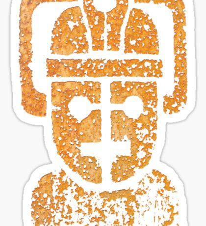 Rusting Cyberman Logo Sticker
