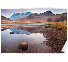 Blea tarn on a cold and frosty day Poster