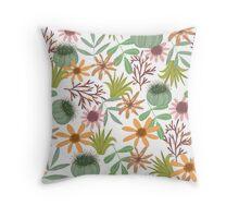 floral pattern exotik flowers Throw Pillow