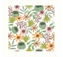 floral pattern exotik flowers Art Print