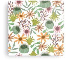 floral pattern exotik flowers Metal Print