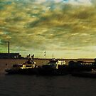 Gravesend Ferry &amp; Tilbury power station by buttonpresser