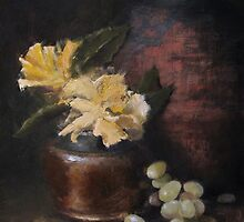Copper Pot and Grapes by Jeffery Sparks