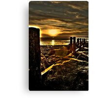 Golden Llanfairfechan Canvas Print
