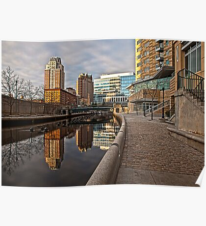 Canal View - Providence, RI Poster