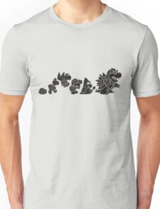 Reptilian Evolution in The Mushroom Kingdom Unisex T-Shirt